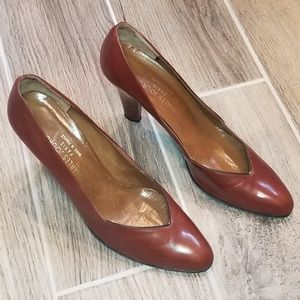 Vintage CHARLES JOURDAN Leather Heels Size 9 …